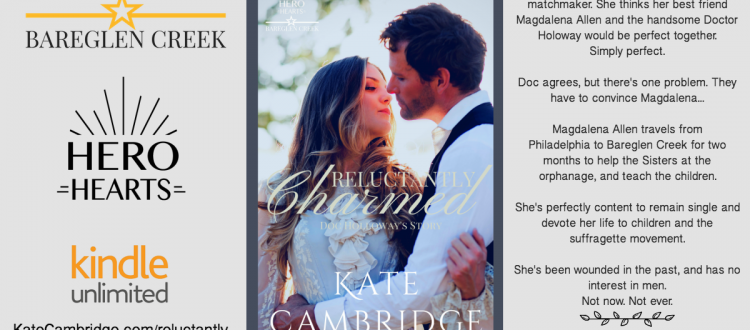 Reluctantly Charmed Historical Romance by Kate Cambridge